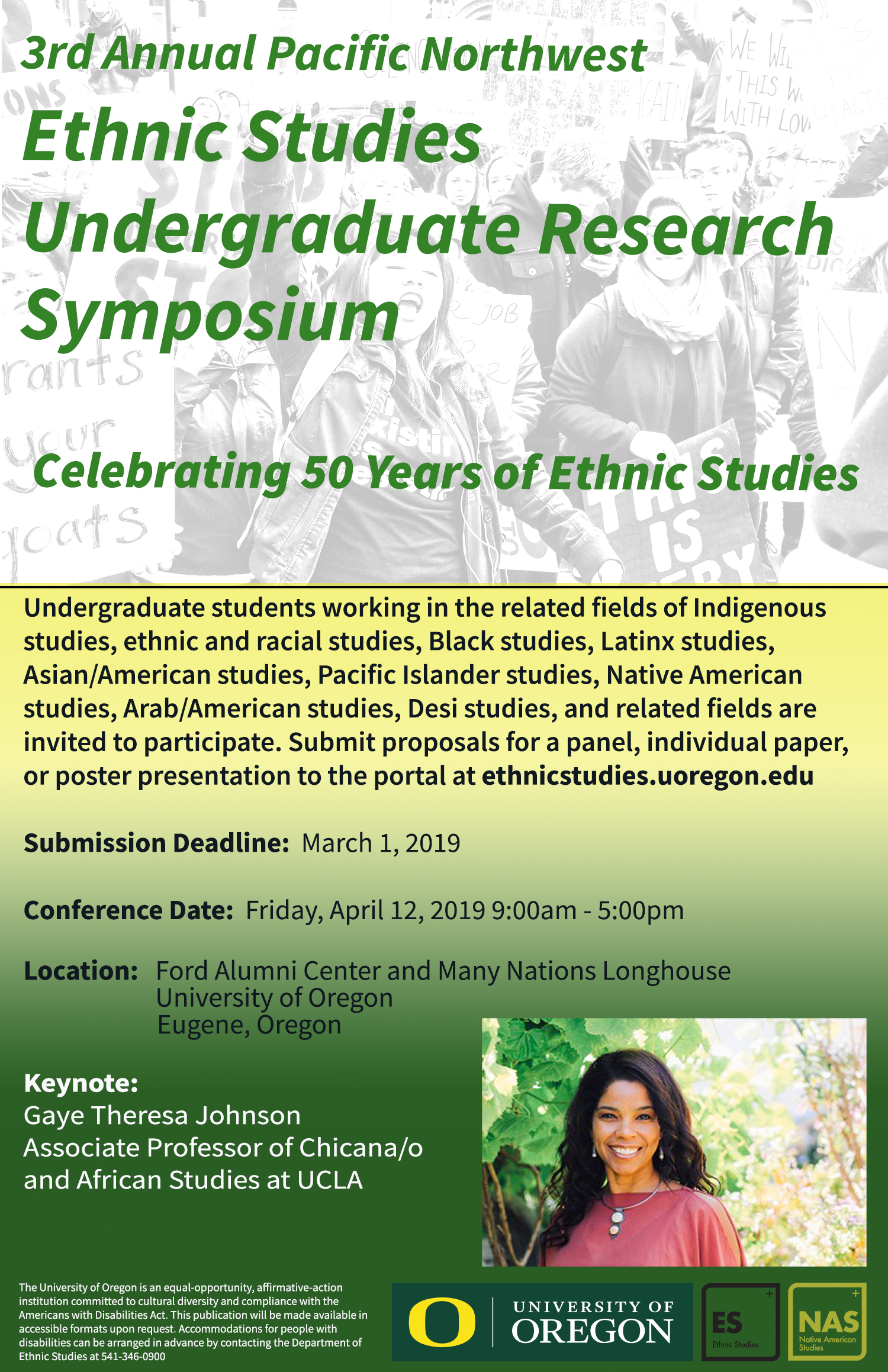 Pacific Northwest Ethnic Studies Undergraduate Research Symposium 2019