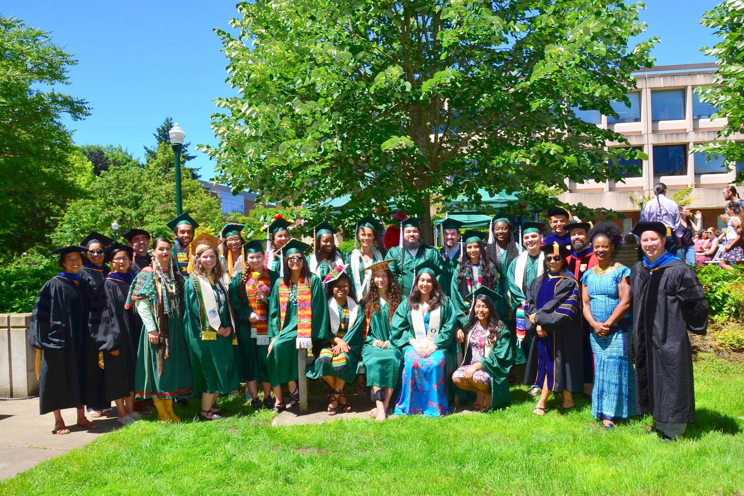 Faculty and students from the Class of 2017