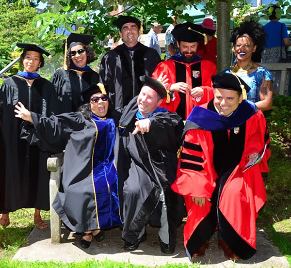 2017 Ethnic Studies Commencement with ES faculty; missing Prof. Lani Teves