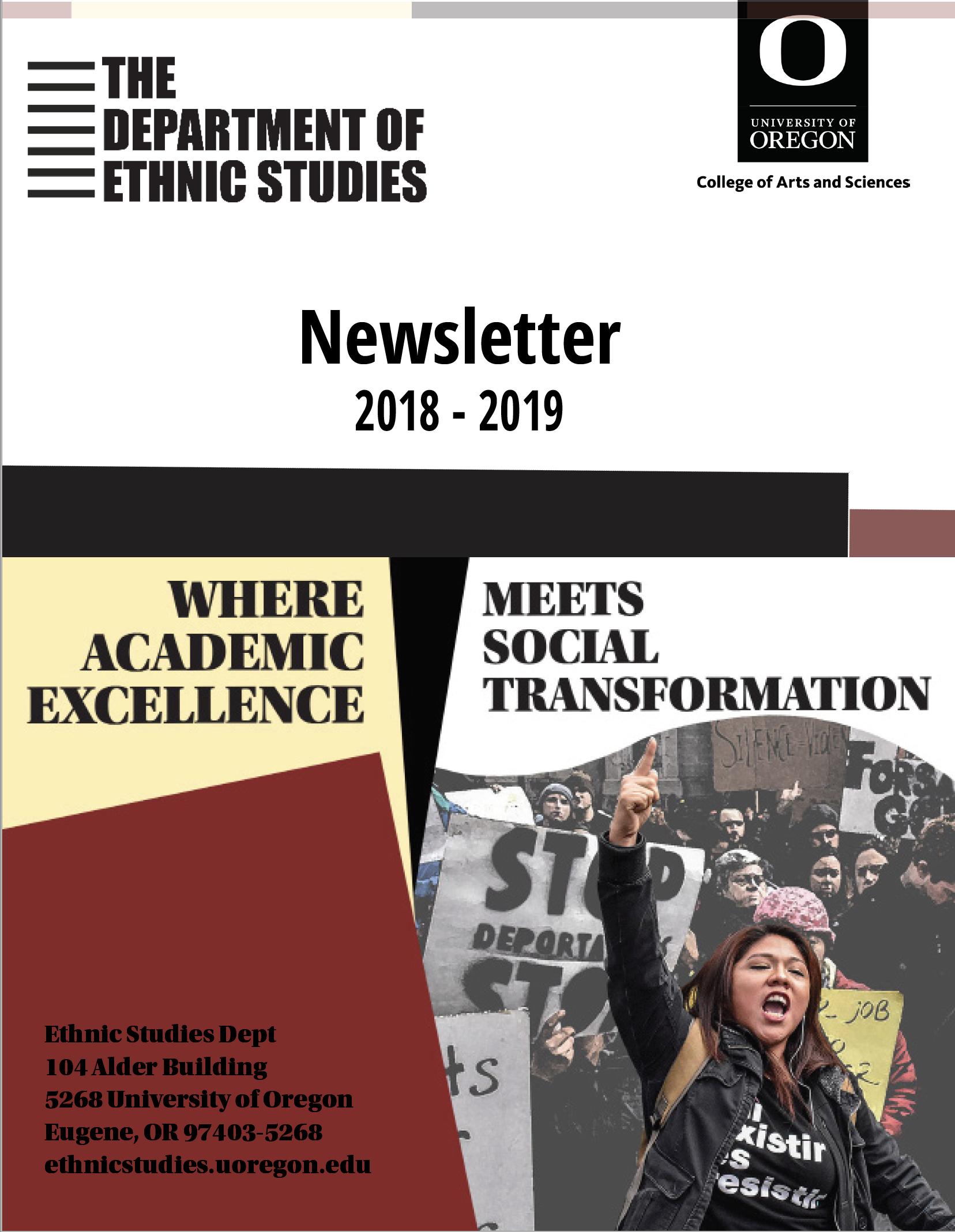 Cover 2018-19 Newsletter