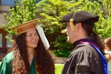 Dr. Brian Klopotek and a 2017 graduate.